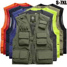 Pocket, Vest, Outdoor, Men's vest