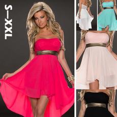 Mini, Strapless Dress, Plus Size, acedresswomen