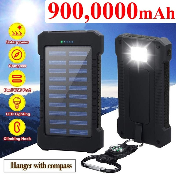 Best Portable Solar Charger 2021 2021 Best Gift !!!Solar Charger Waterproof 9000000mAh Dual USB