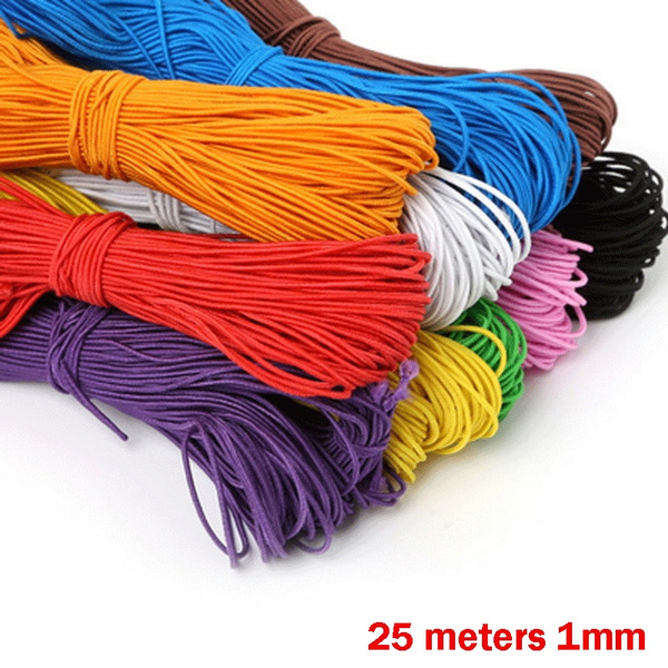 25 Meters 1mm Beading Elastic Stretch Cord Beads Cord String Strap