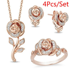 Fashion, Rose Gold Ring, Gifts, Crystal