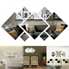 decoration, art, removablemirrorwallsticker, Home & Living