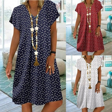 Summer, Plus Size, long dress, Tops