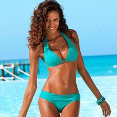 pink, bathing suit, Plus Size, bikini set