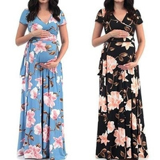 Maternity Dresses, gowns, long skirt, Moda