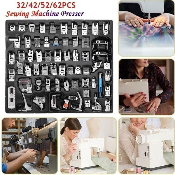 32//62pcs Multi-functional Domestic Sewing Machine Presser Foot Set Sewing