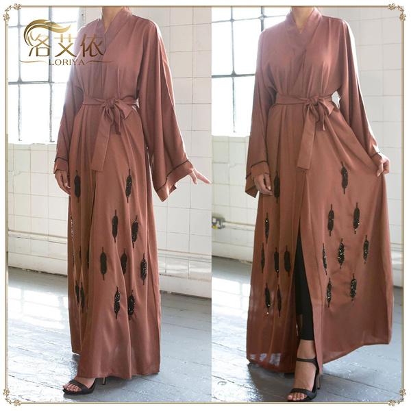 Ramadan Abaya Muslim Women Long Maxi Dress Kaftan Jilbab Dubai Islamic Gown Robe