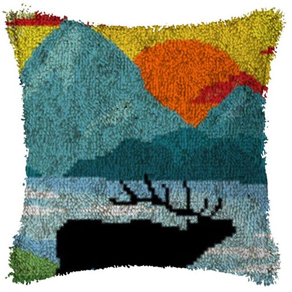 Latch Hook Landscape Pillow Kits Diy