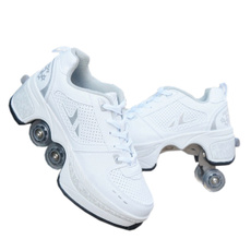 Outdoor, rollerskate, doublerow, skidding