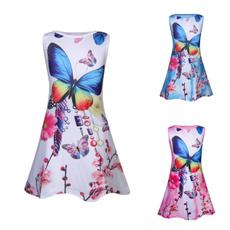 butterfly, Summer, Vest, Floral print