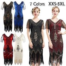 Tassels, Lace, Evening Dress, Dress