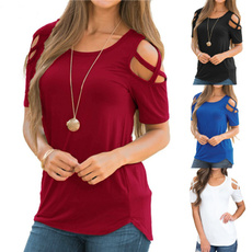 Summer, Plus Size, Tops & T-Shirts, short sleeves