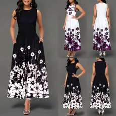 Summer, Moda, Floral print, Ladies Fashion