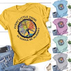Moda, cottontee, hippie, printed