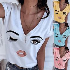 shirtsforwomen, Summer, Plus Size, cute