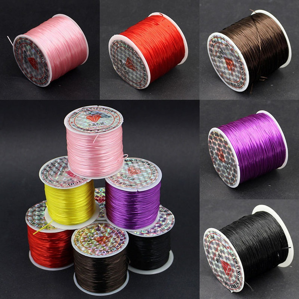 2rolls Round Elastic Cord Nylon Cord Hand Woven String For Knot
