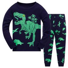 Dinosaur, Shirt, Sleeve, Long pants