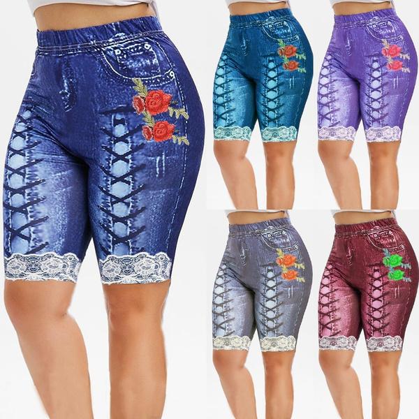 laceprintjean, Leggings, Plus Size, Lace