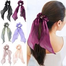 chiffonheadband, hairscrunchie, Elastic, bowscrunchie