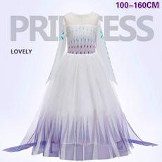 elsa dress, tulle, Cosplay, Christmas