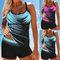 Plus Size, women beachwear, bikini set, tankinibeachwear
