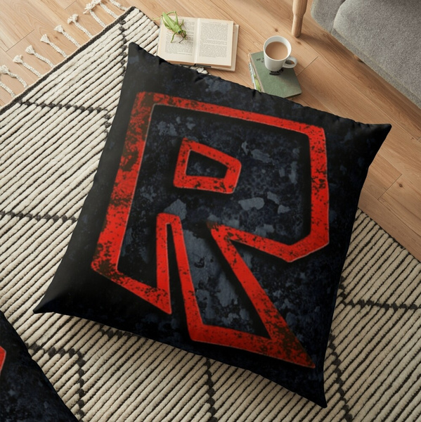 Roblox Logo Red And Black Roblox Logo On Black Sofa Bed Home Decor Pillow Case Cushion Cover Gifts Wish