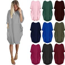 Plus Size, Tunic dress, pocketdre, Party Dress