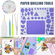 Pen Tweezer |1 SetRandom Colour Needles DIY Paper Quilling Tools Kit Mould