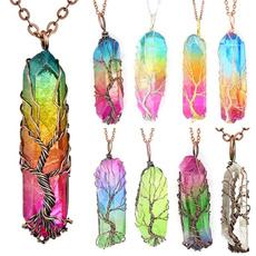 rainbow, Jewelry, healingcrystal, Tree