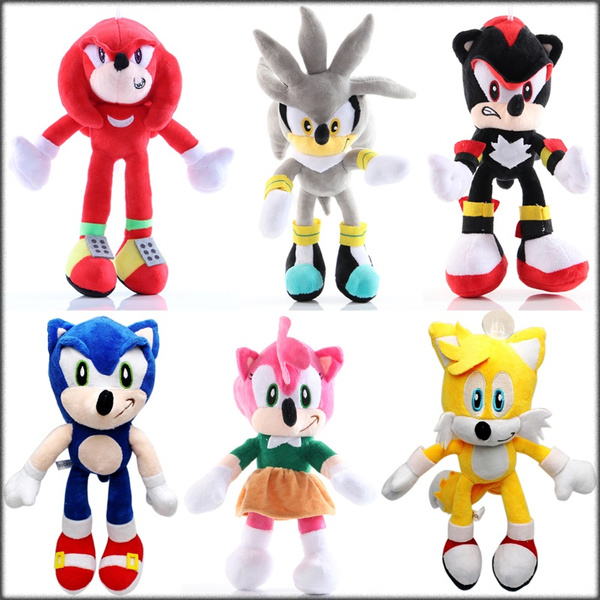6 Styles Sonic The Hedgehog Doll Soft Stuffed Plush Toys 28cm 11 Wish