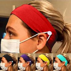 washable, facemaskholder, Yoga, Head Bands