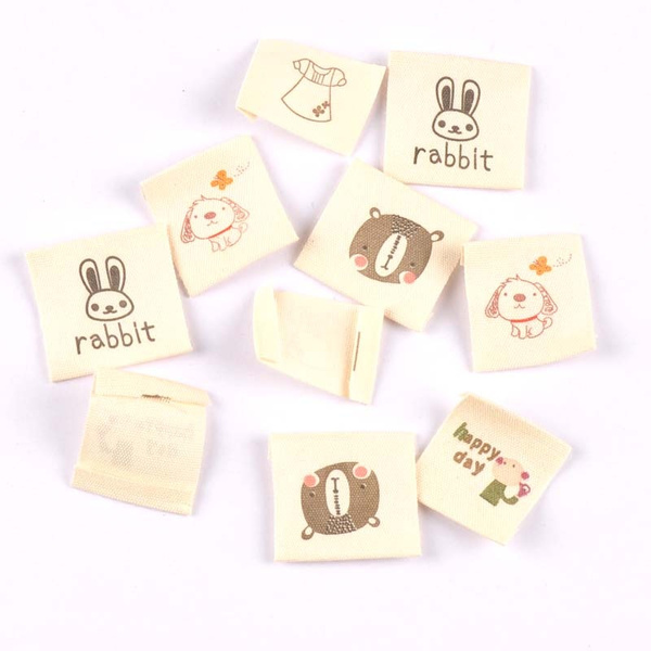 50pcs Hand Made Woven Labels Fabric Label Sewing Crafts For Clothing Bags Shoes