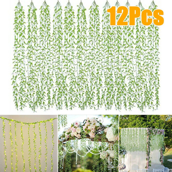Artificial Garden Hedge Screen Green Wall Ivy Vine Screen Home Backdrop Decor Wish