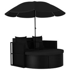 black, Garden, gardenchair, parasol