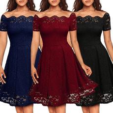 off the shoulder dress, Summer, short sleeve dress, Lace