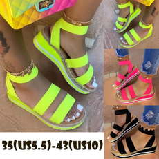 Summer, Exterior, wedageslidesandal, candy color