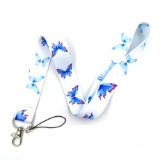 butterfly, webbingribbon, lanyardforwomen, mobilephonestrap