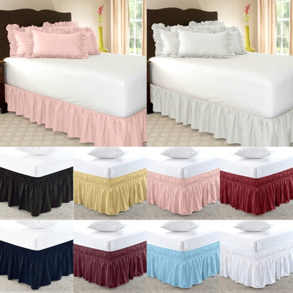 Bed Skirt 3 Sided Wrap Around 15 Inches