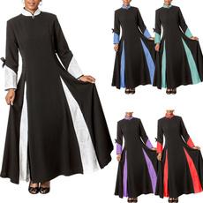 Stand Collar, Fashion, sleeve dress, Winter
