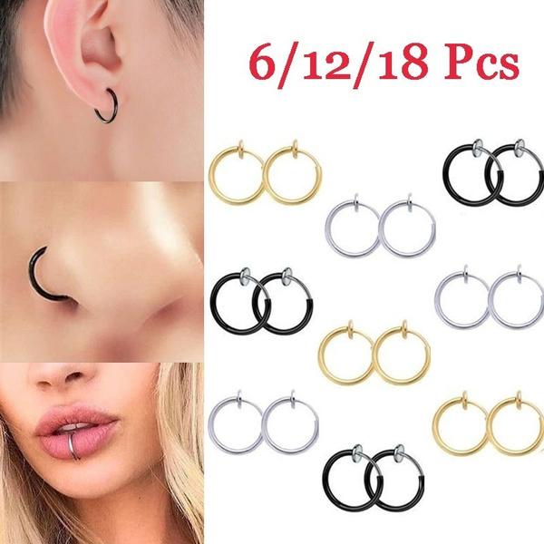 New Style Hoop Clip Fake No On Cartilage Nose Septum Hip Hop Ring