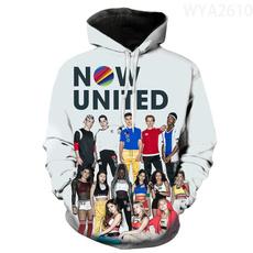 womencasualhoodie, 3D hoodies, Fashion, Long sleeved
