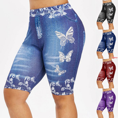 butterfly, Leggings, short leggings, Floral print