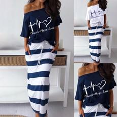 Summer, long skirt, Plus Size, Tops