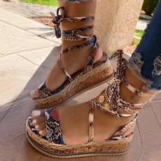 Summer, Plus Size, Women Sandals, Encaje