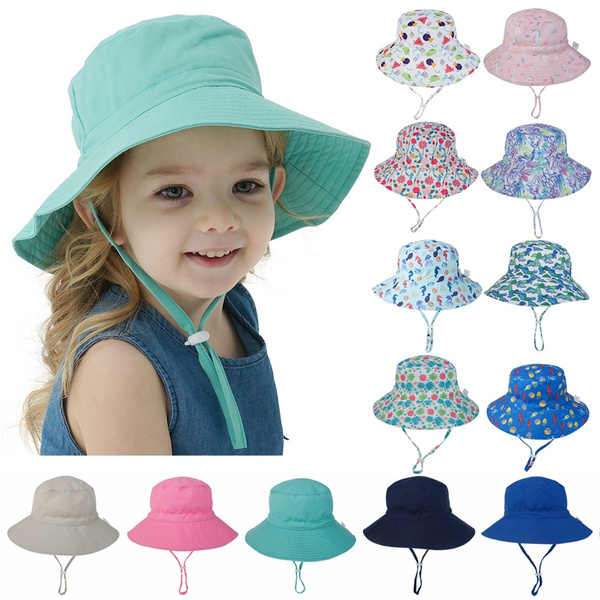 Wide Brim Summer Hat Infant Baby Sun Hat Girls Bucket Hat Newborn Beach Cap