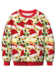 Men's Hoodies & Sweatshirts, Christmas, Tree, Fashion