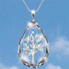 925 sterling silver necklace, lifetree, Fashion, Jewelry