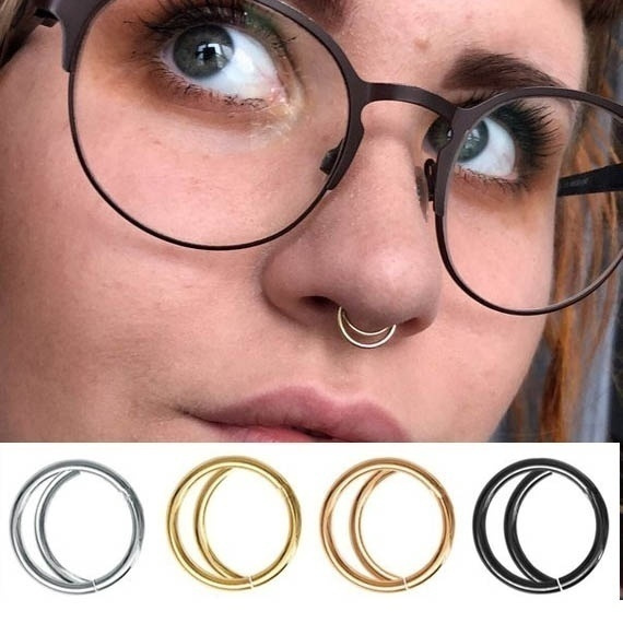 18k Gold Plated 925 Silver Plated Nose Ring Boho Nose Jewelry