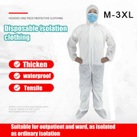 Hazmat Suit Anti-Virus Protection Clothing Safety Coverall Disposable Washable