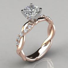 DIAMOND, Princess, wedding ring, gold